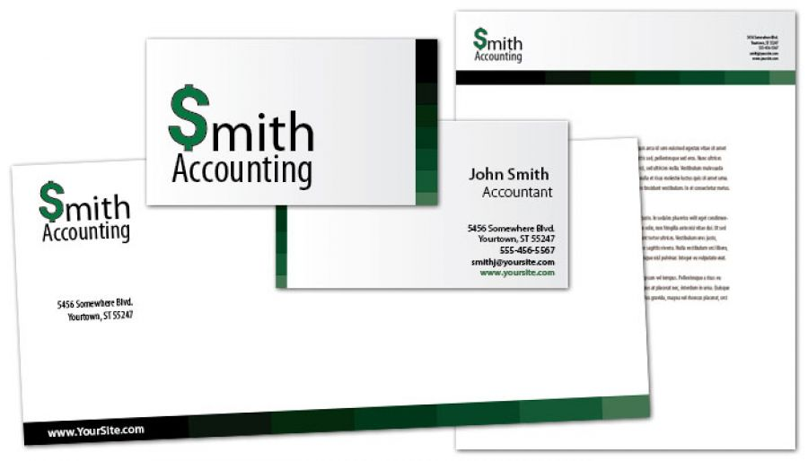 Accountant Business Card Design Layout