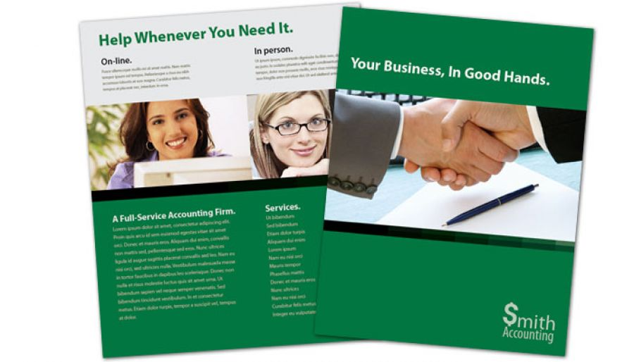 Accountant Flyer Design Layout