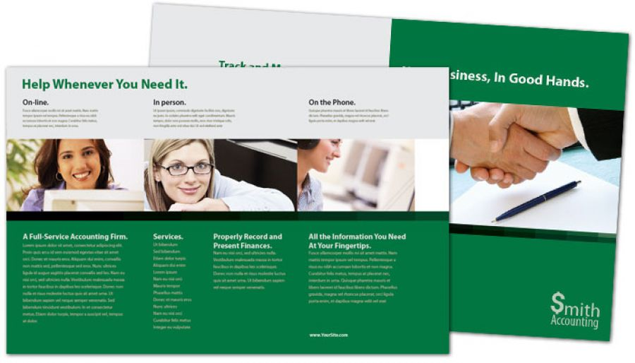 Accountant Half Fold Brochure Design Layout