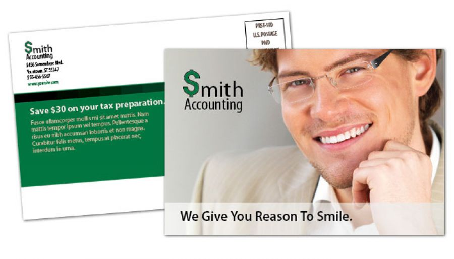 Accountant Postcard Design Layout