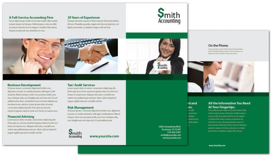 Accountant Tri Fold Brochure Design Layout