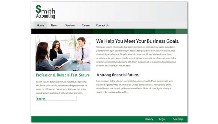 Accountant Website Design Layout