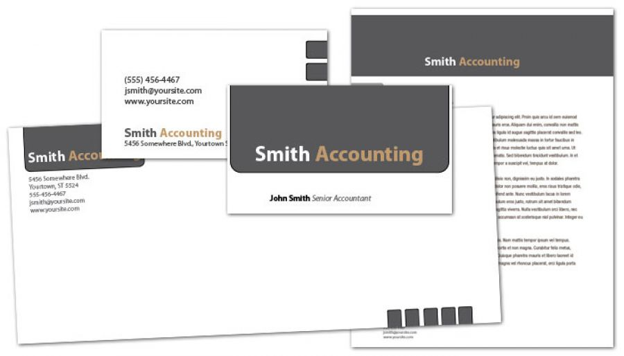 Accounting amp Tax Services Business Card Design Layout