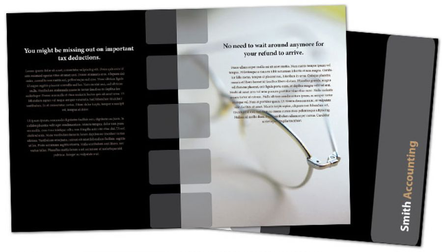 Half Fold Brochure Template For Accounting Amp Tax Services Order