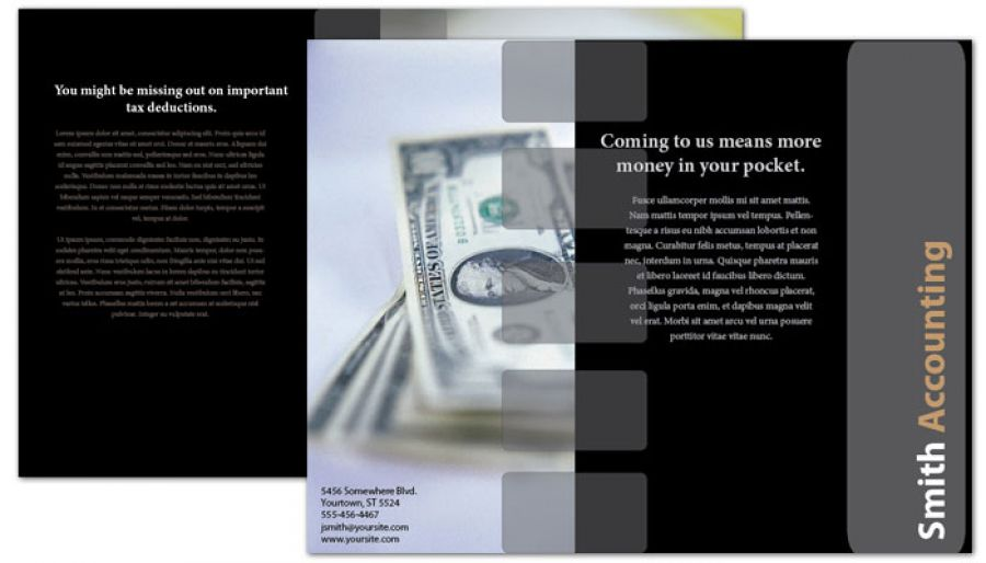 Accounting amp Tax Services Tri Fold Brochure Design Layout
