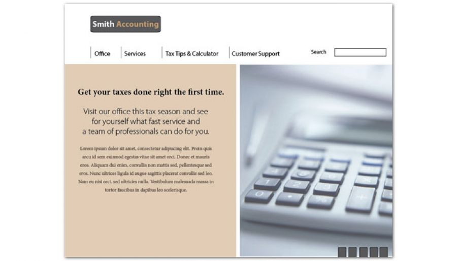 Accounting amp Tax Services Website Design Layout