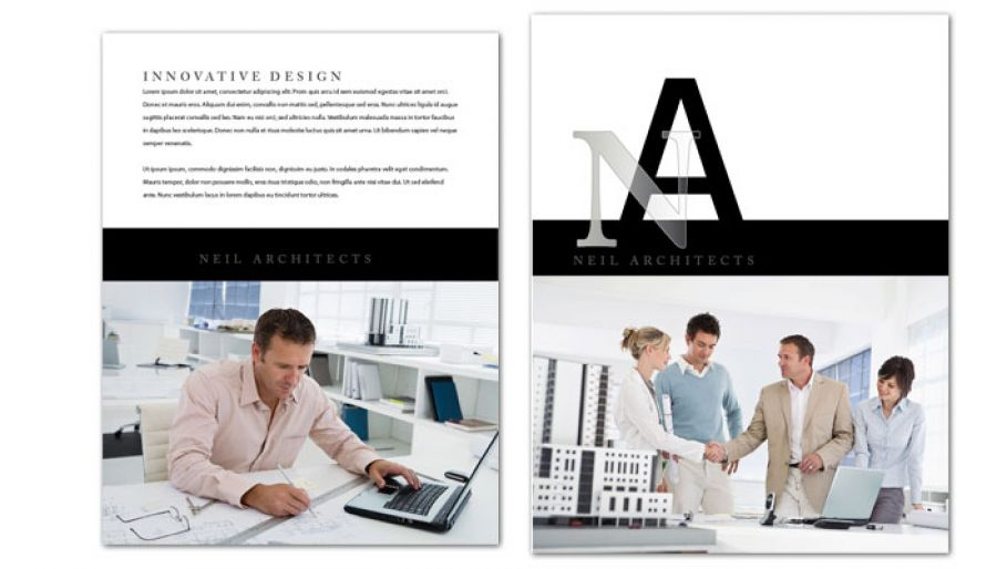 Architect Builder Construction Firm Flyer Design Layout