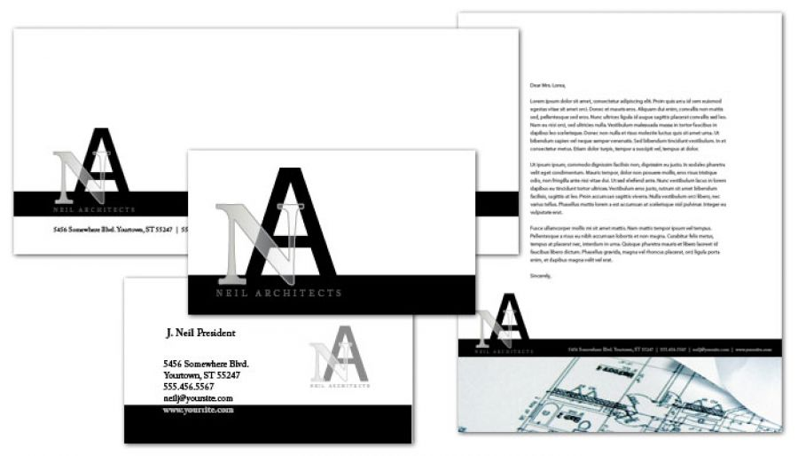 Letterhead template for architect builder construction firm order architect builder construction firm letterhead design layout reheart Image collections
