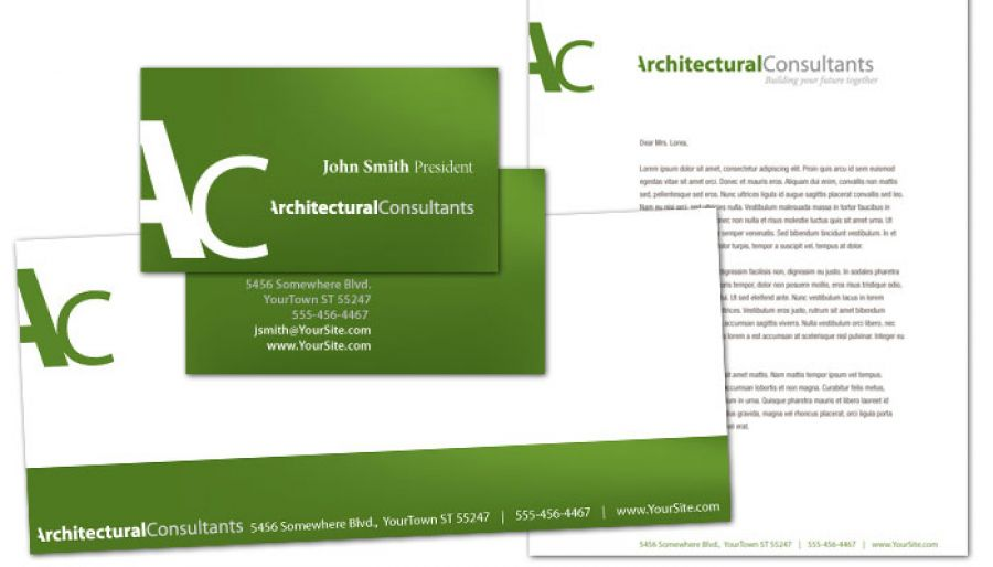 Business Card Template For Architect Engineering Firm Order - Tri fold business card template