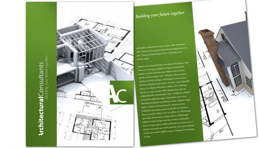 Architect Engineering Firm Flyer Design Layout