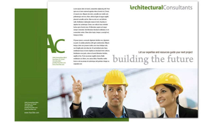 Architect Engineering Firm Tri Fold Brochure Design Layout