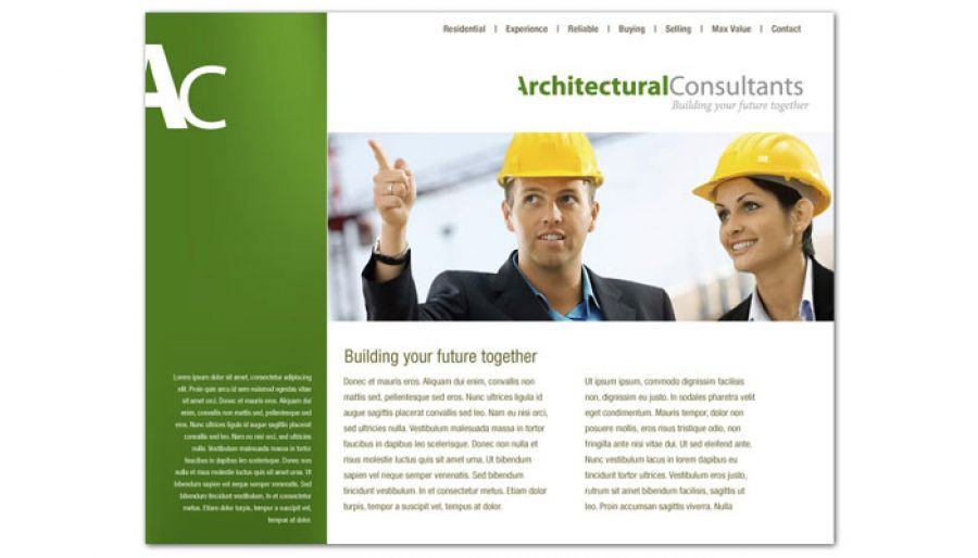 Architect Engineering Firm Website Design Layout