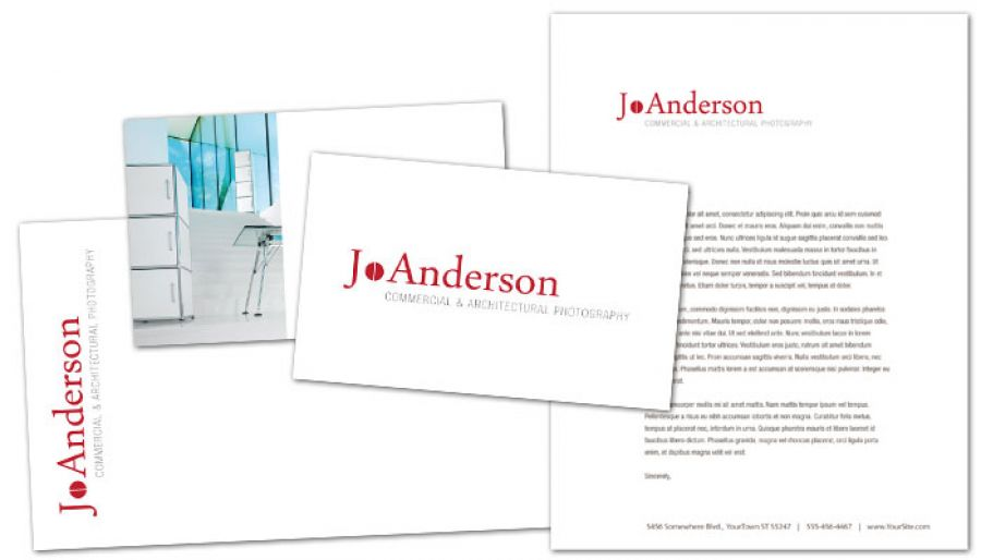 Architectural Commercial Photographer Envelope Design Layout