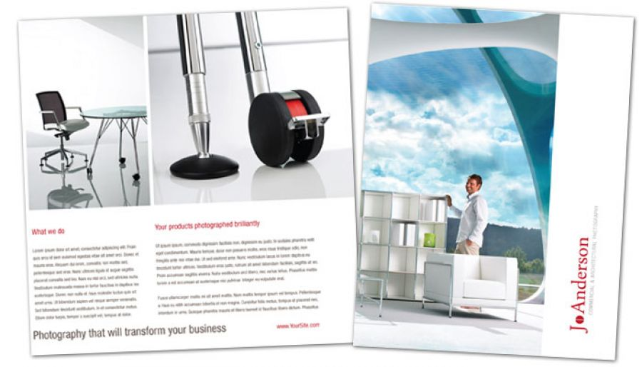 Architectural Commercial Photographer Flyer Design Layout