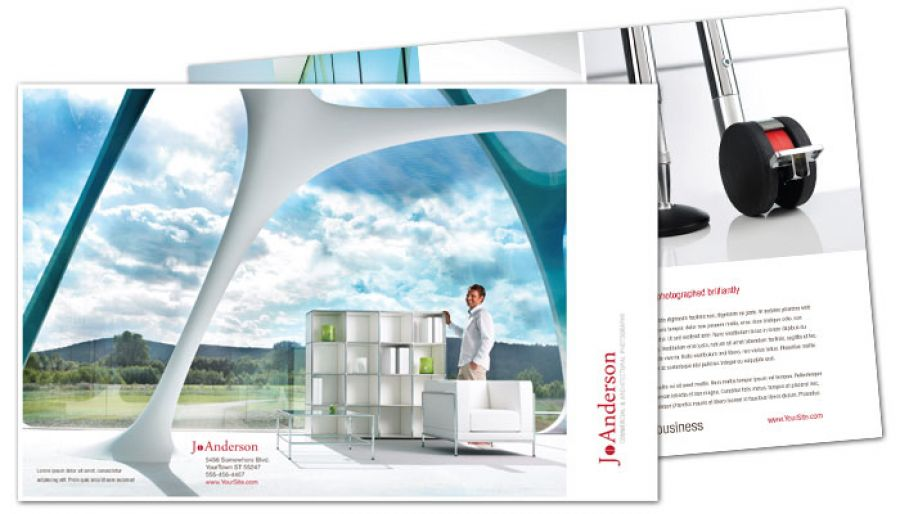 Architectural Commercial Photographer Half Fold Brochure Design Layout