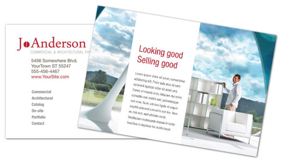 Architectural Commercial Photographer Postcard Design Layout