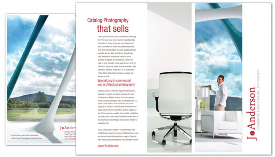 Architectural Commercial Photographer Tri Fold Brochure Design Layout