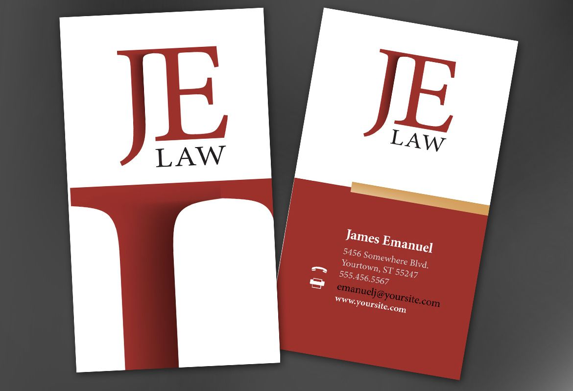 Attorney Law Firm Business Card Design Layout