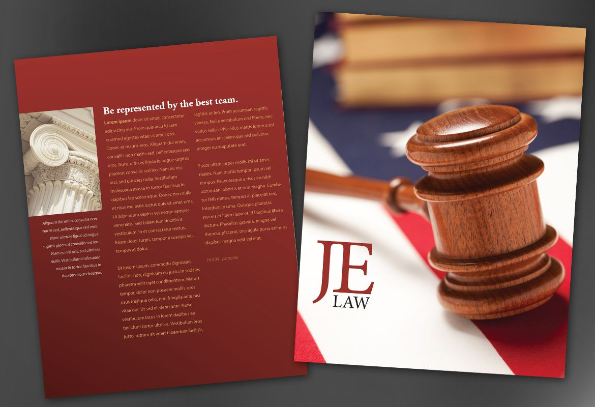 Flyer template for attorney law firm order custom flyer for Law firm brochure template
