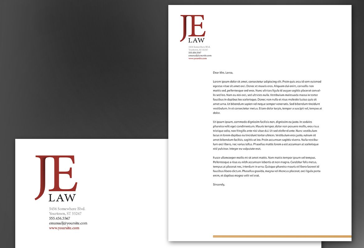 Attorney Letterhead Templates for Pinterest