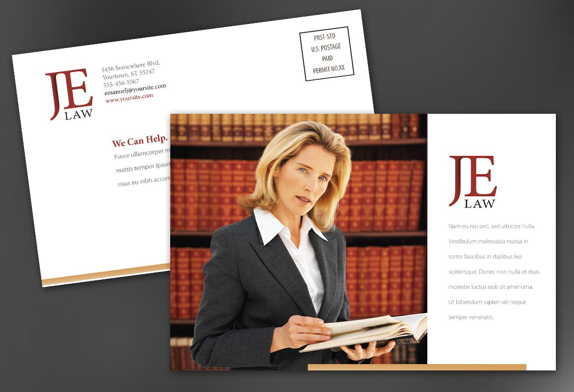 law firm brochure template - postcard template for attorney law firm order custom