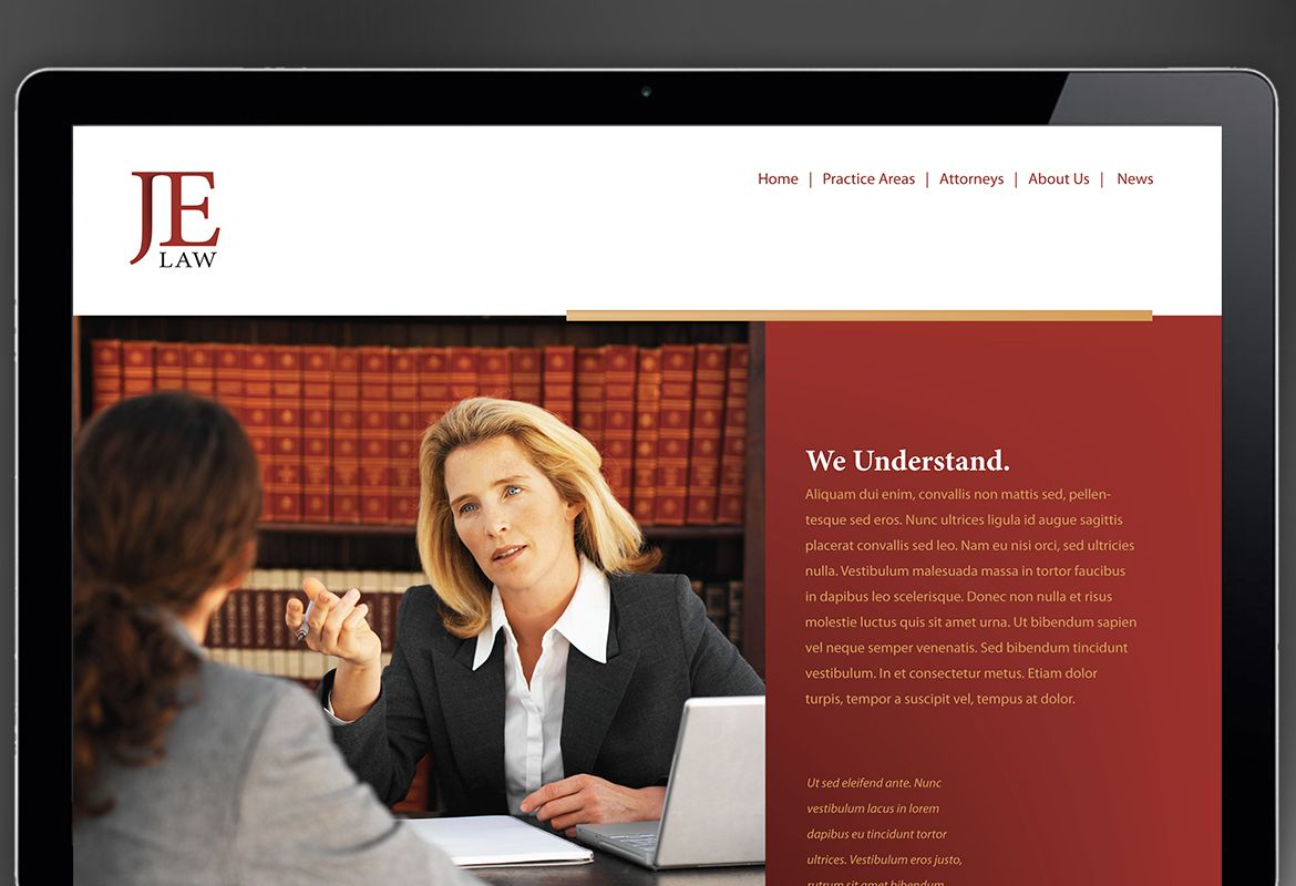 Attorney Law Firm Website Design Layout