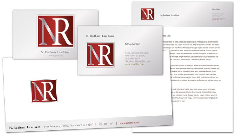 Attorney Lawyer Law Firm Custom Logo Design Layout