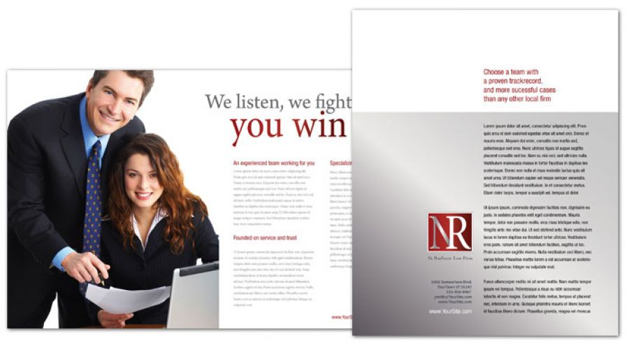 law firm brochure template - flyer template for attorney lawyer law firm order custom