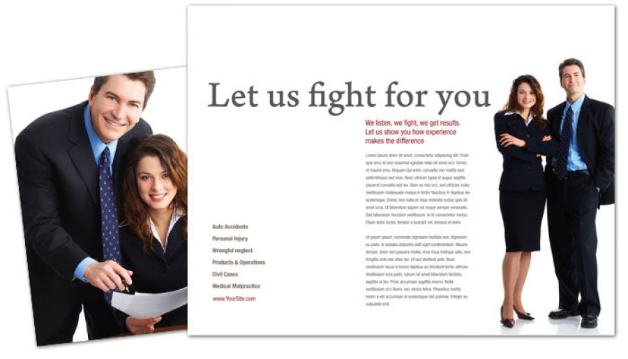 Attorney Lawyer Law Firm Tri Fold Brochure Design Layout