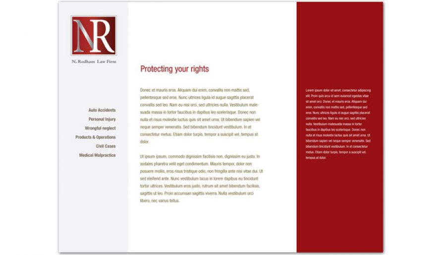 Attorney Lawyer Law Firm Website Design Layout