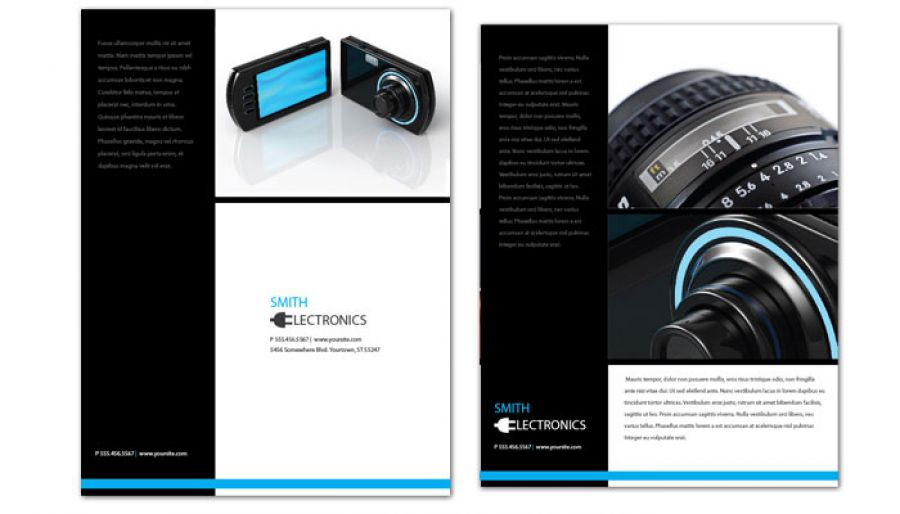 Audio Video Camera Electronics Flyer Design Layout
