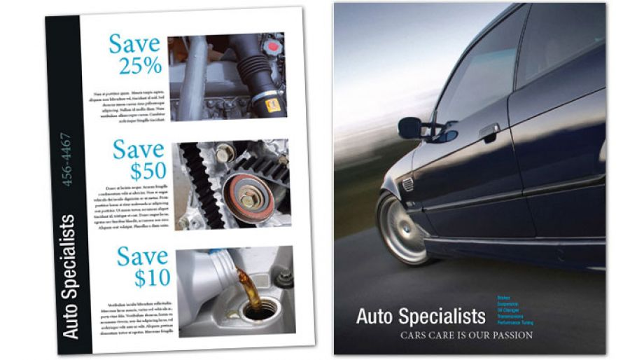 Automotive Repair Shop Flyer Design Layout