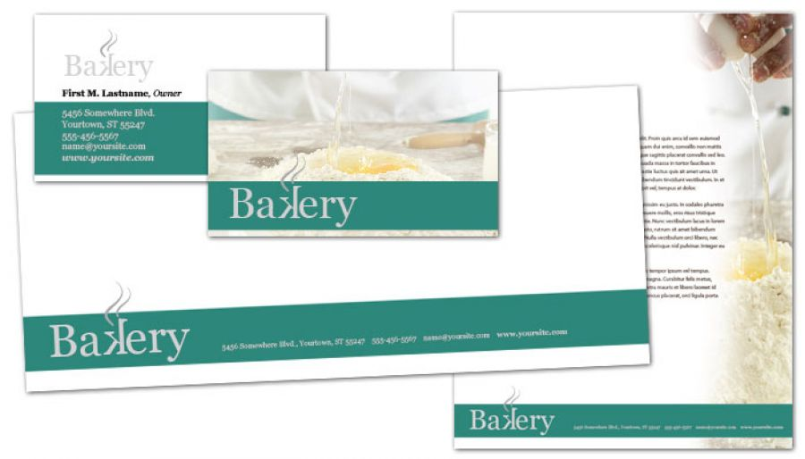 Bakery Pastry Restaurant Business Card Design Layout