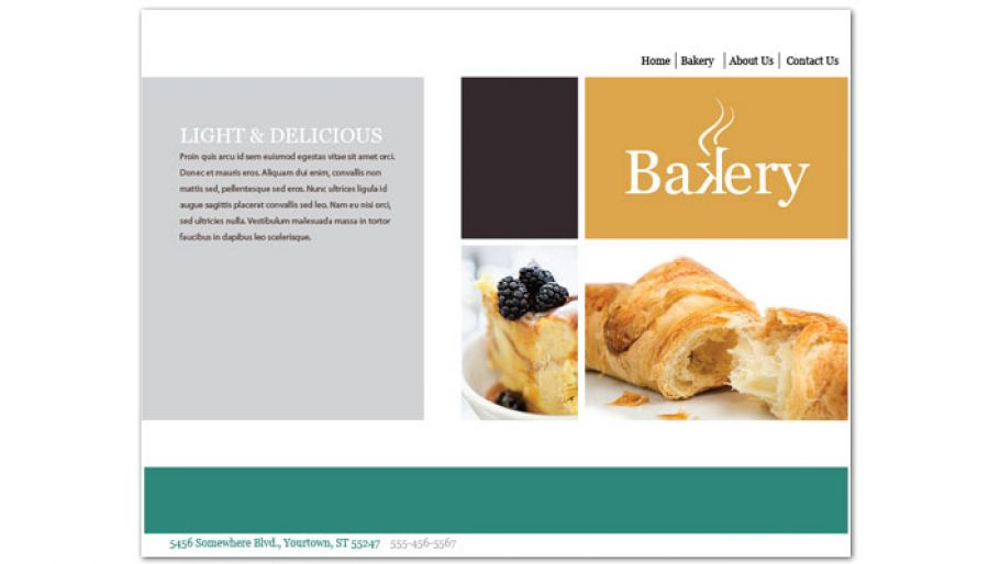 Bakery Pastry Restaurant Website Design Layout