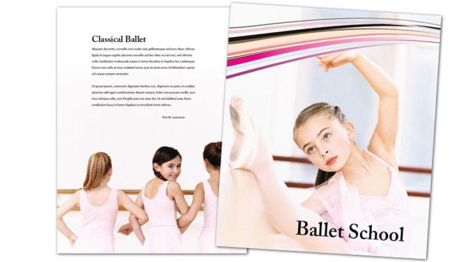 Ballet Dance School Flyer Design Layout