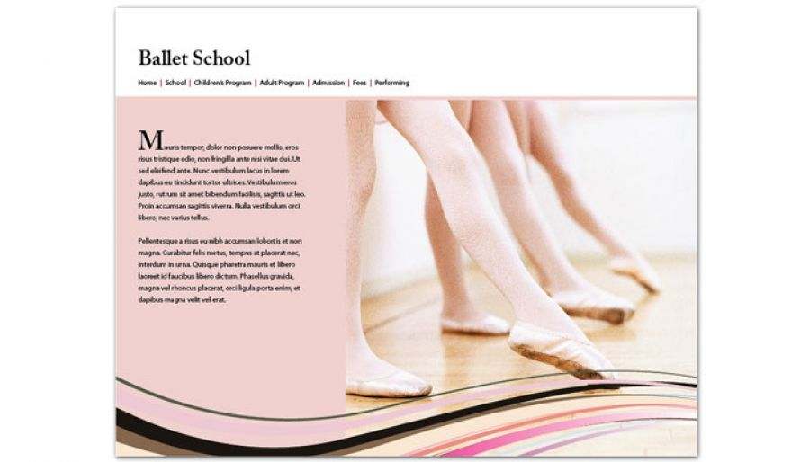 Ballet Dance School Website Design Layout