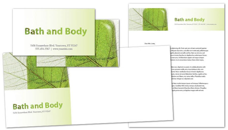 Bath body and health Envelope Design Layout