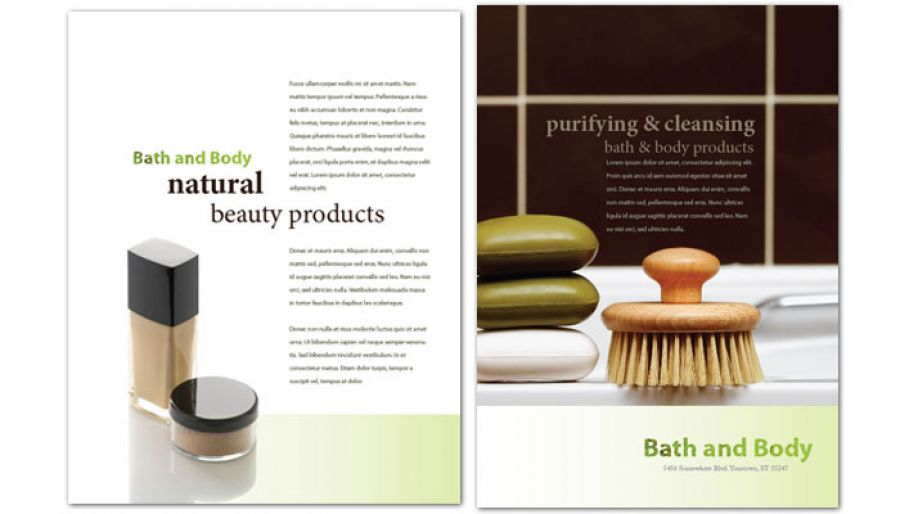 Bath body and health Flyer Design Layout