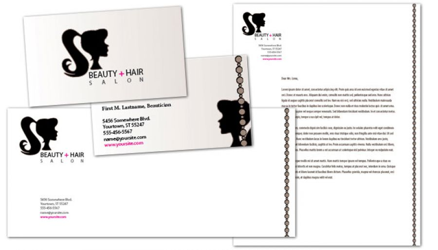 Beauty Spa Hair Salon Business Card Design Layout