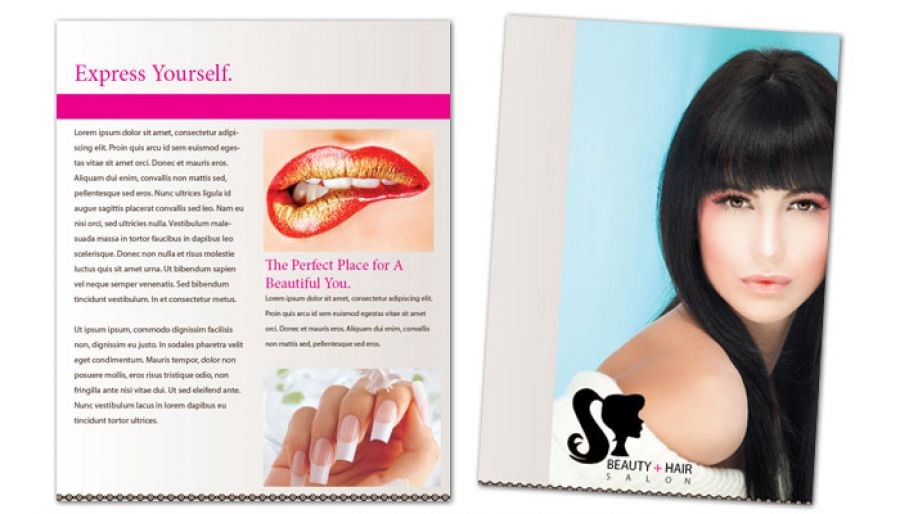 Beauty Spa Hair Salon Flyer Design Layout