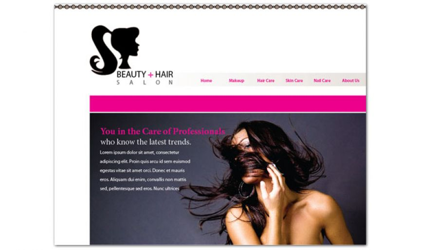 Website Template For Beauty Spa Hair Salon Order Custom