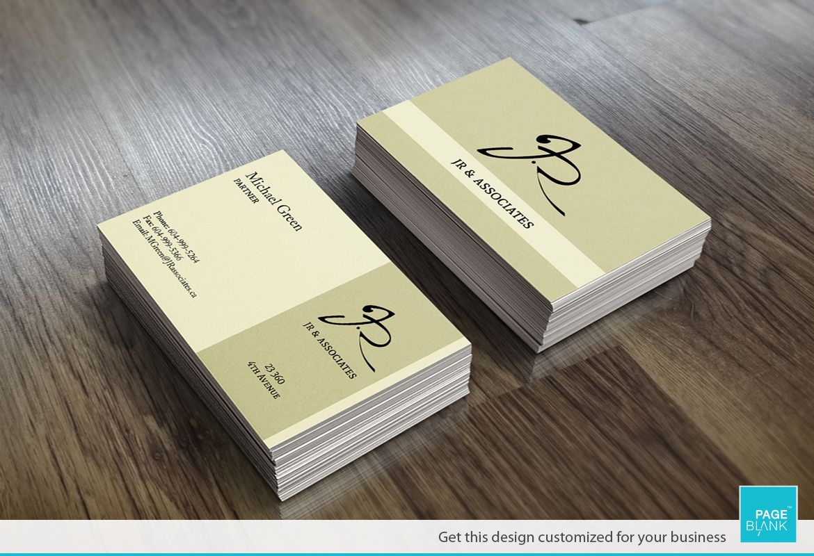 Beige Law Business Card Design Layout