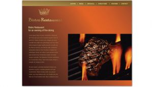 Bistro Restaurant Menu-Design Layout