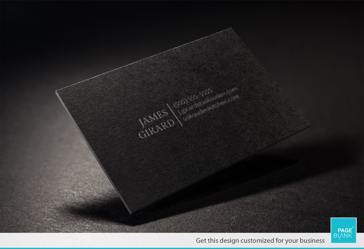 Black Luxury Business Card Design Layout