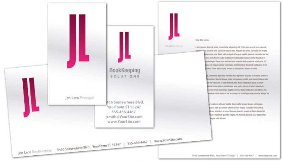 Bookkeeping Accounting Agent Business Card Design Layout