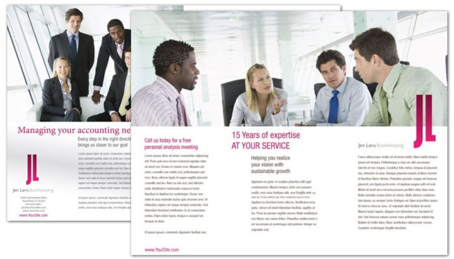 Bookkeeping Accounting Agent Tri Fold Brochure Design Layout