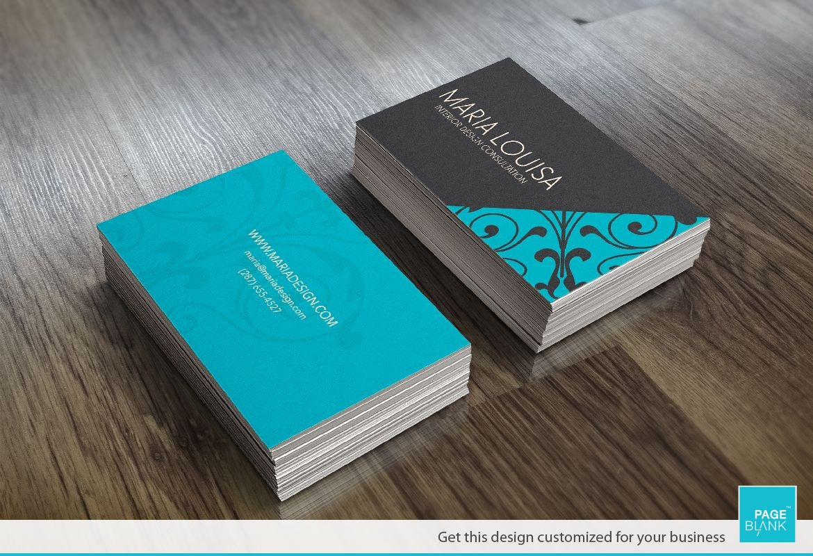 Boutique Style Business Card Design Layout