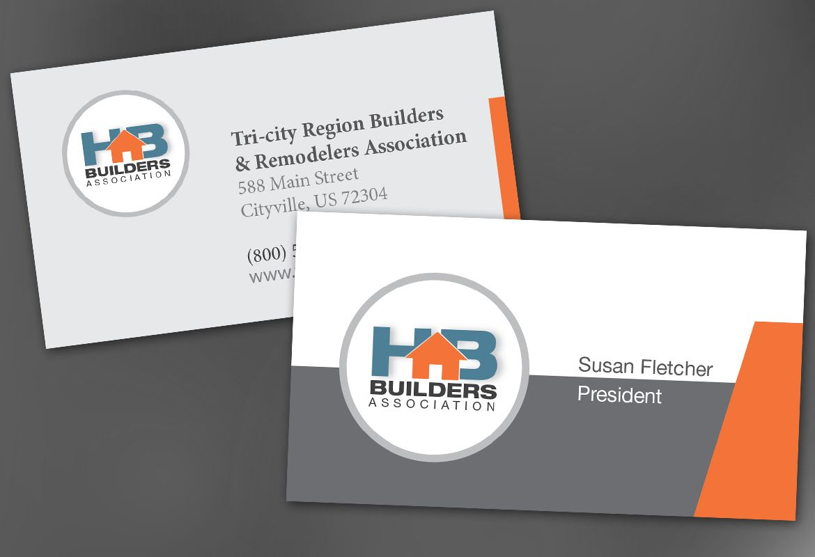Builders Association Business Card Design Layout