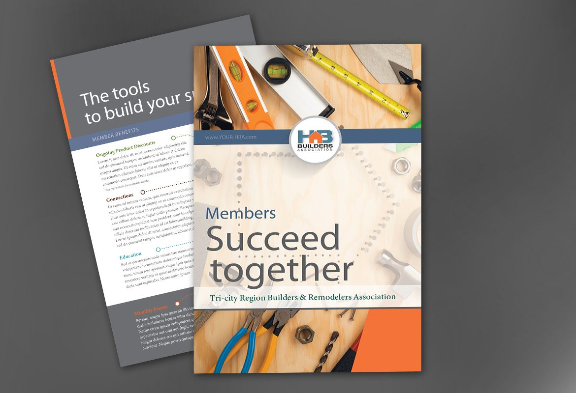 Builders Association Flyer Design Layout