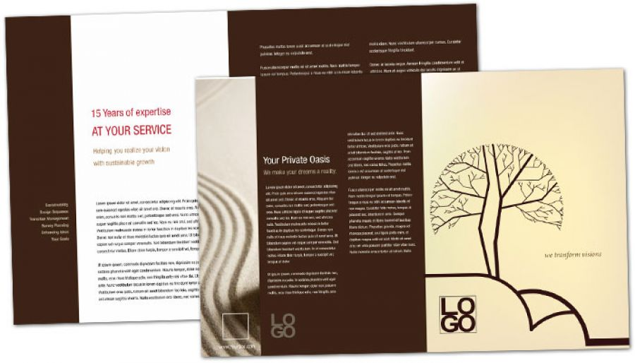 Business Advisor Half Fold Brochure Design Layout